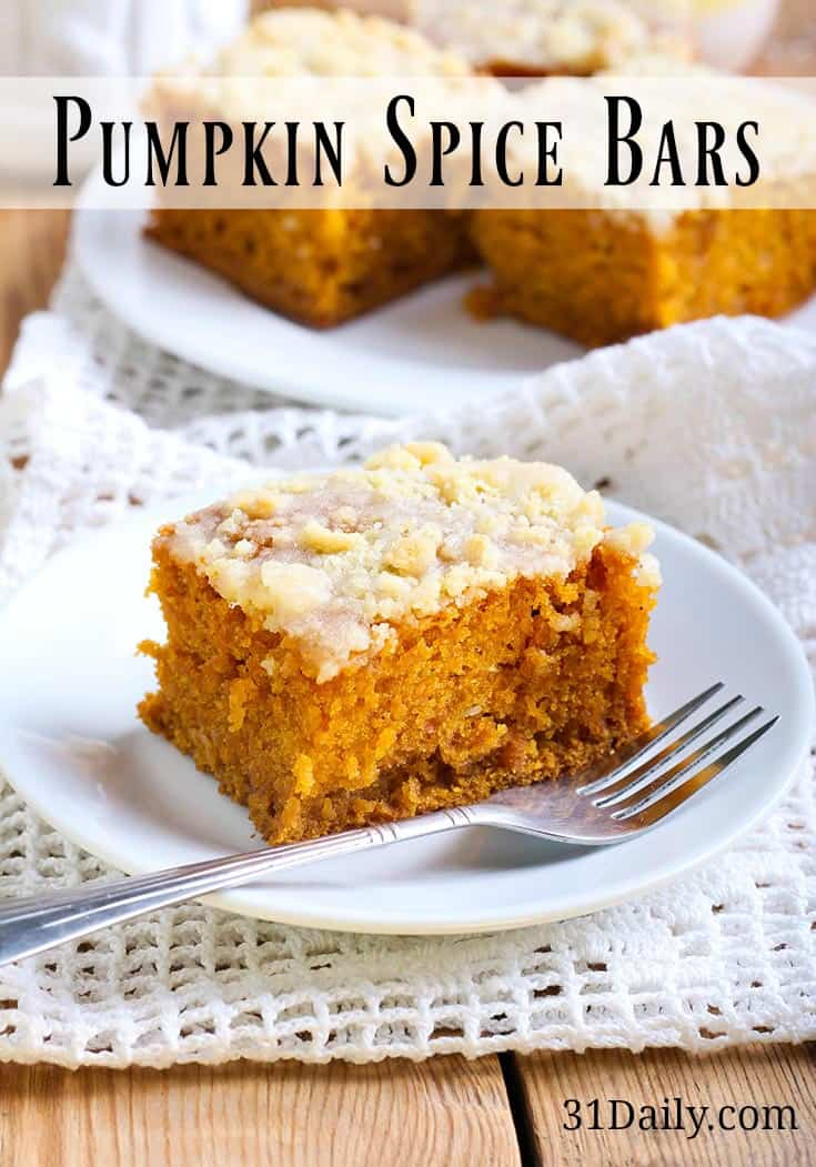 Pin-Pumpkin Spice Bars Recipe