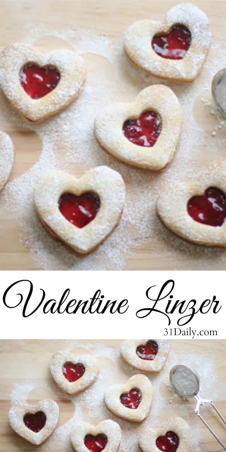 Valentine Linzer Cookies | 31Daily.com