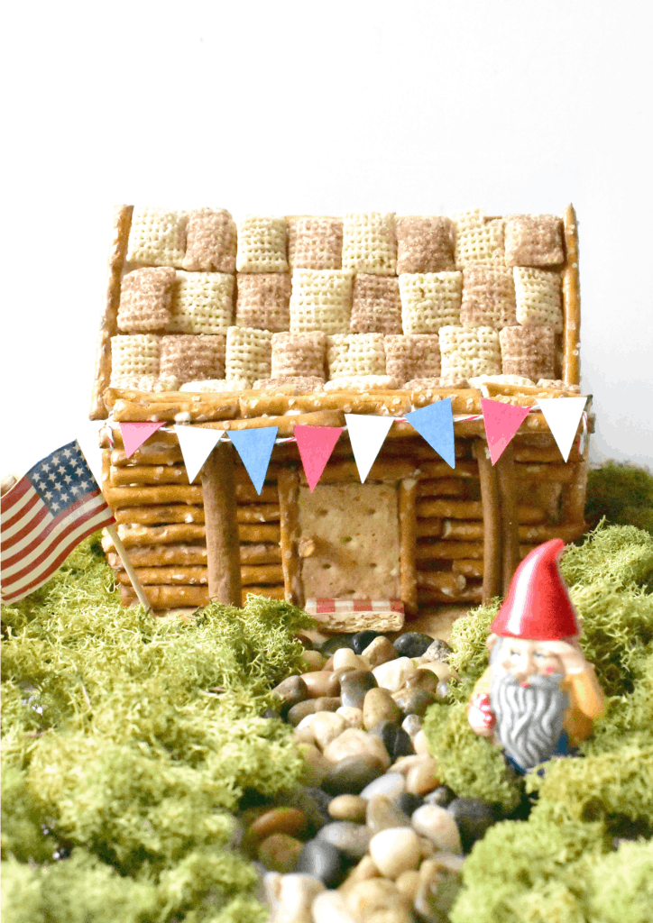 DIY Edible Pretzel Log Cabins: Great Summer or Anytime Craft. 31Daily.com