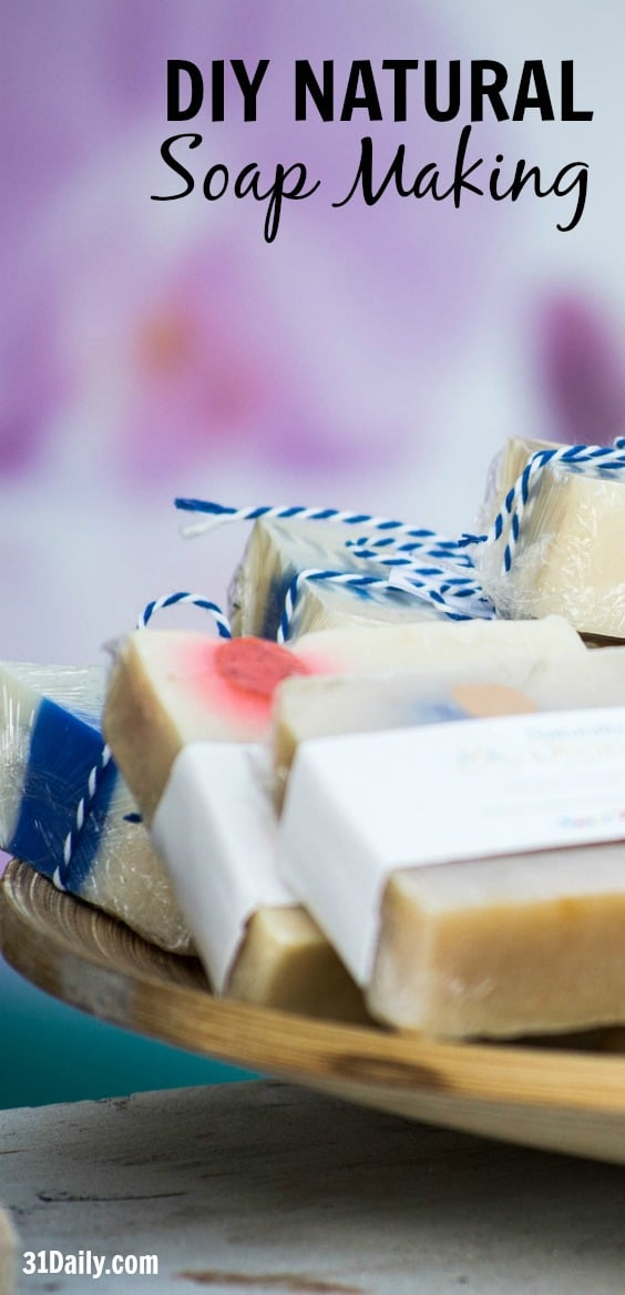 A quick and easy DIY -- Soap Making. Methods and recipes for making your own soap with lavender and oatmeal at 31Daily.com