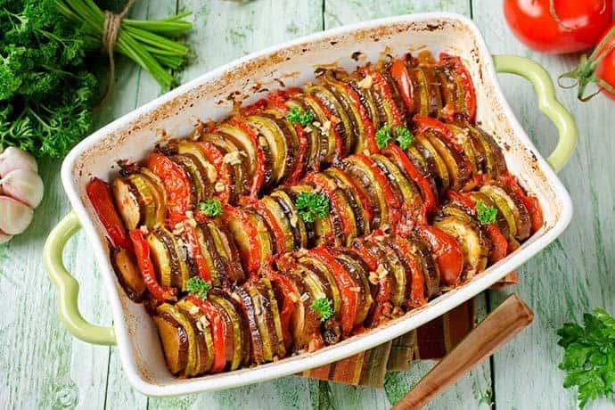 A Lower Calorie Version of the Classic French Recipe for Ratatouille - 31Daily.com
