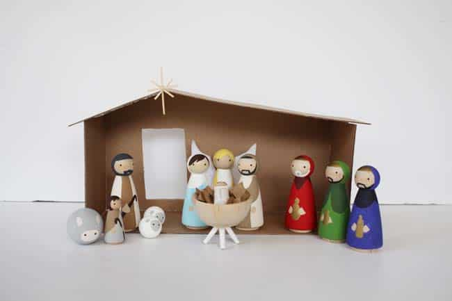 DIY Peg Doll Nativity Set