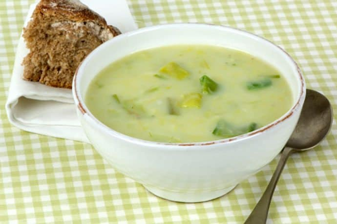 A Lighter and Healthier Comfort Food: Potato Leek Soup