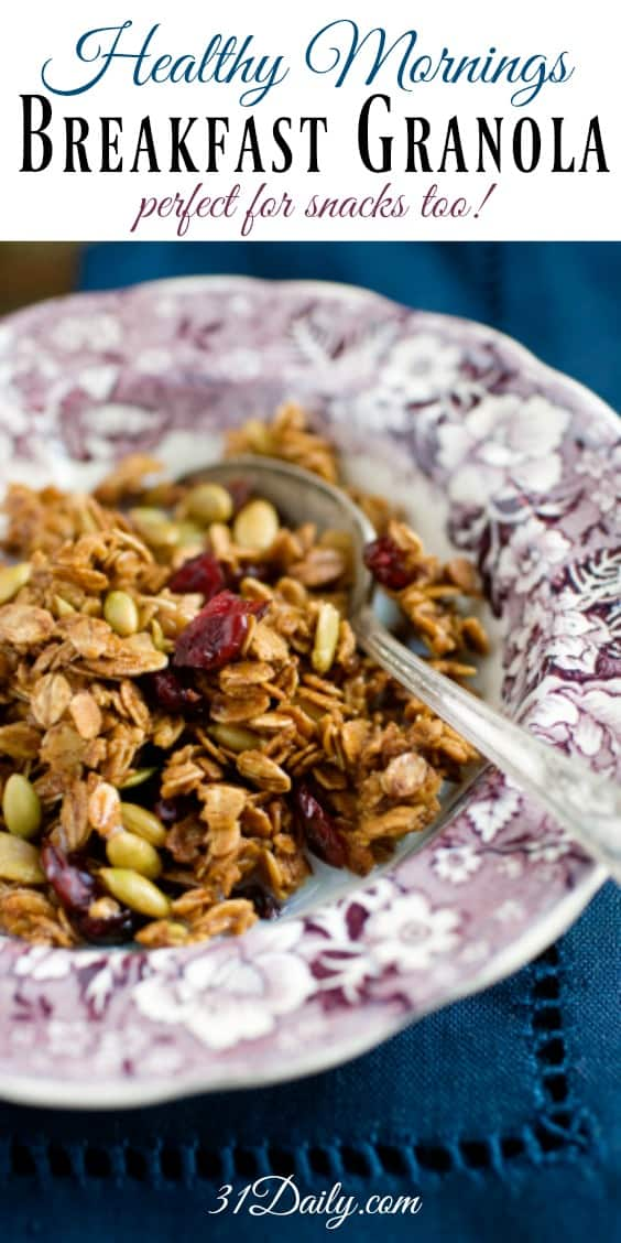 Easy and Healthy Breakfast Granola | 31Daily.com