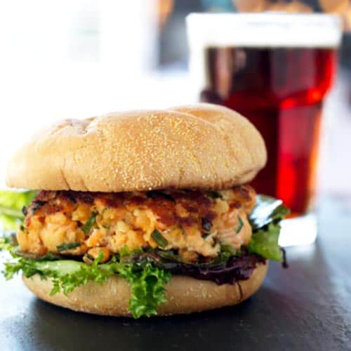 Quick-fix pantry superstar. This recipe is one of my go-to weeknight dinners for those crazy days. The best part is these Salmon Burgers are loaded with essential nutrients my whole family needs. No sacrifices here! 31Daily.com