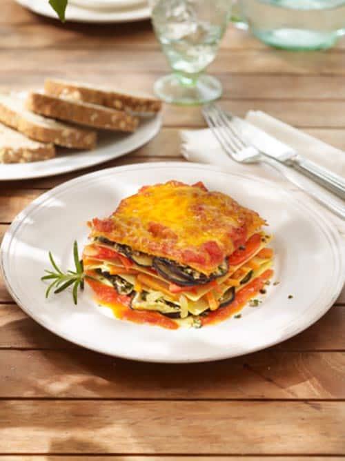 heirloom tomato and eggplant lasagna - 31 daily