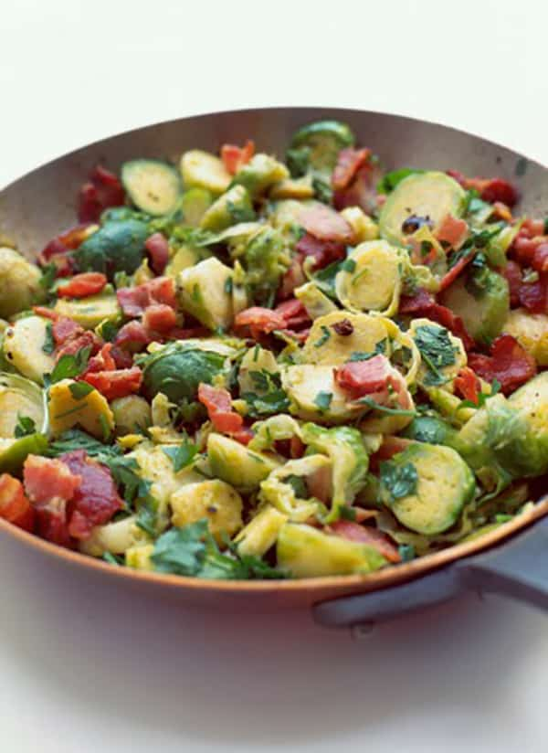 Maple Roasted Brussels Sprouts with Bacon | 31Daily.com