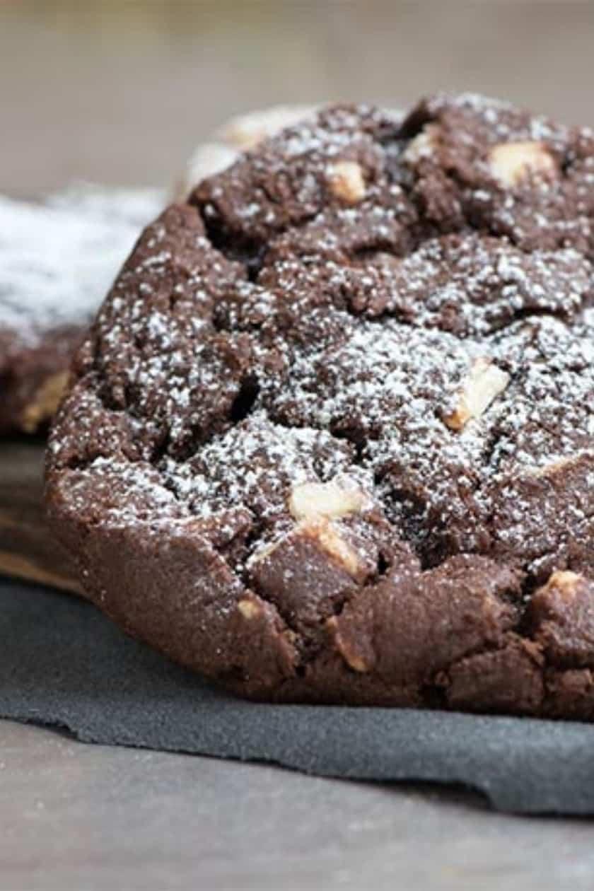 Double Chocolate Espresso Cookie Closeup
