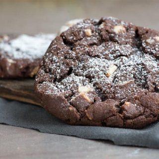Double Dark Chocolate Espresso Cookie Recipe at 31Daily.com