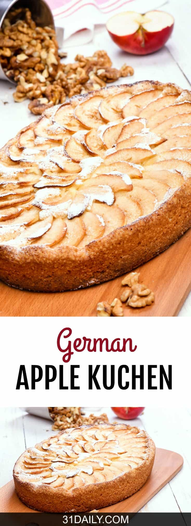 German Apple Kuchen | 31Daily.com
