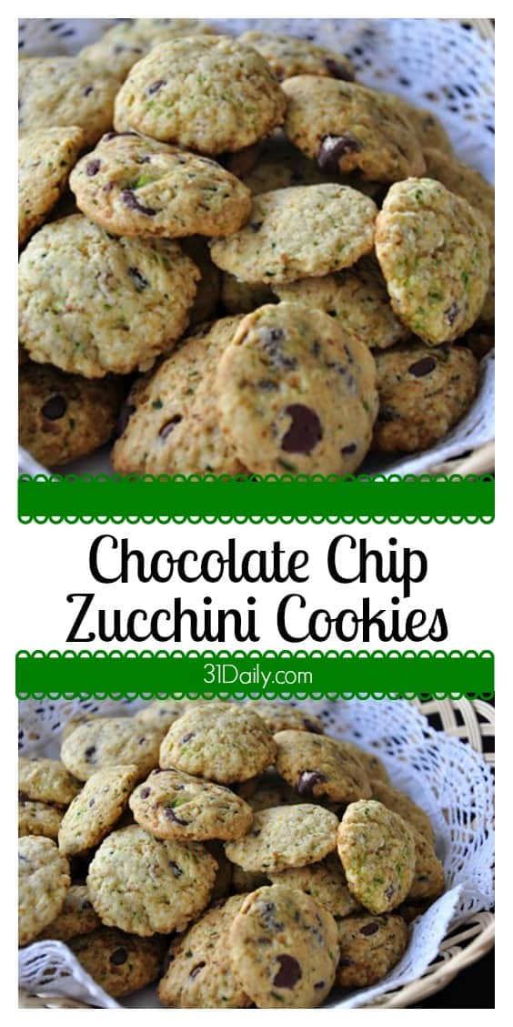Chocolate Chip Zucchini Cookie Recipe at 31Daily.com