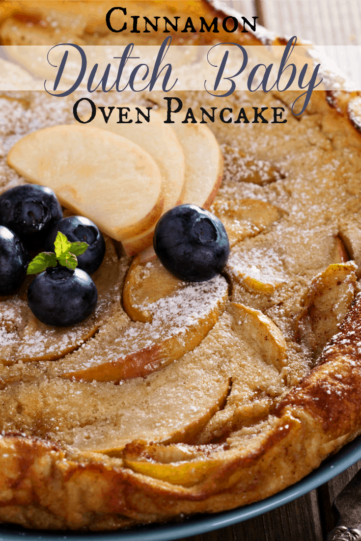 Cinnamon Dutch Baby Puffed Oven Pancake | 31Daily.com