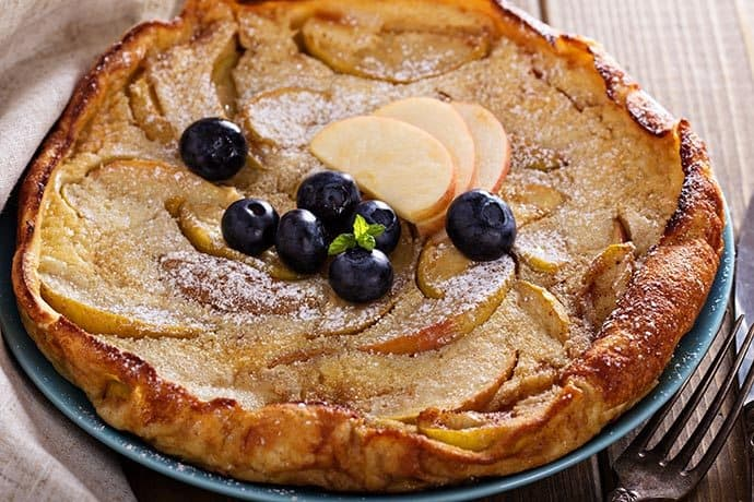 Cinnamon Dutch Baby Puffed Oven Pancake