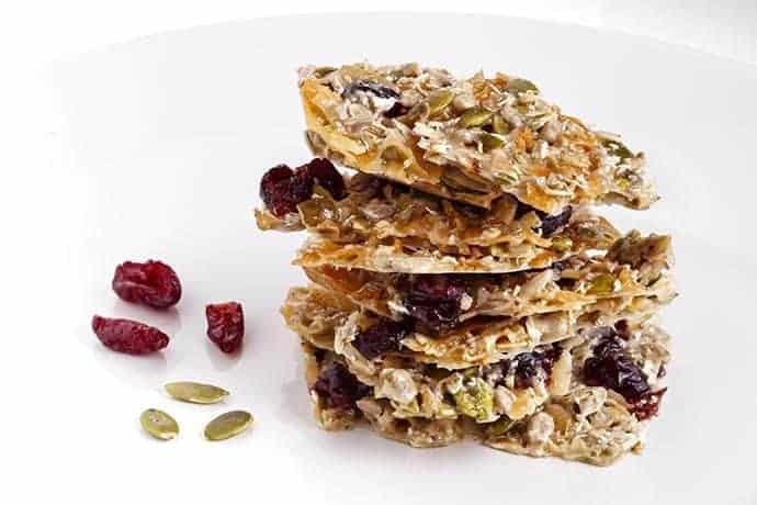 Easy Microwave Cranberry Pumpkin Seed Brittle | 31Daily.com