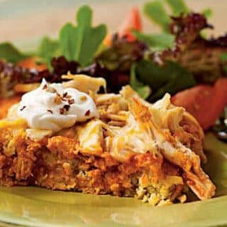 chicken tamale casserole with green salad