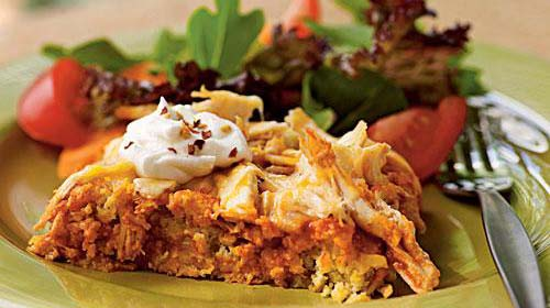Easy Chicken Tamale Casserole