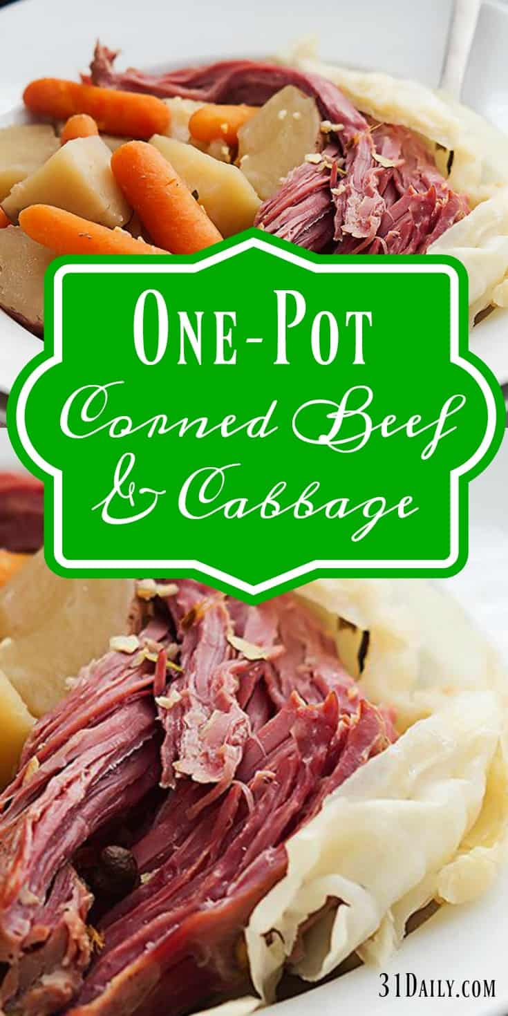 One Pot Corned Beef and Cabbage Recipe | 31Daily.com