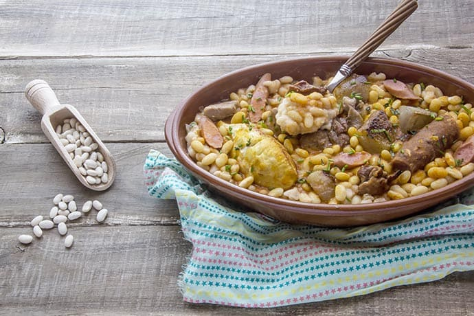 Slow Cook Lamb, Sausage and White Bean Cassoulet | 31Daily.com