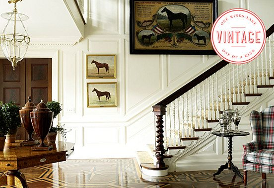 Inspired Room: Vintage Equestrian Elegance at 31Daily.com