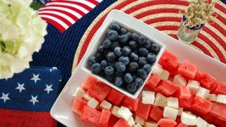 Watermelon Flag Party Platter