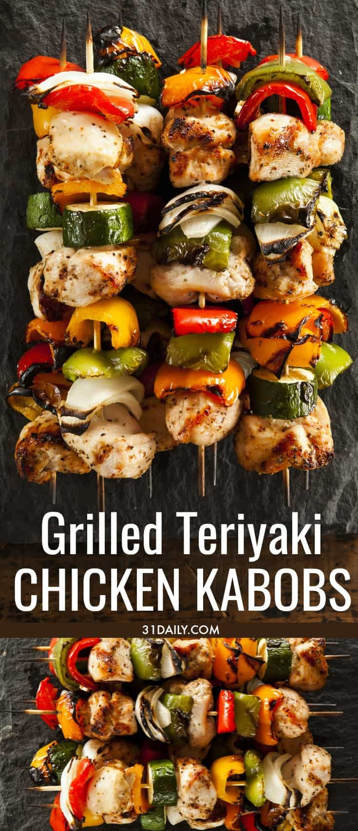 Grilled Teriyaki Chicken Kabobs | 31Daily.com