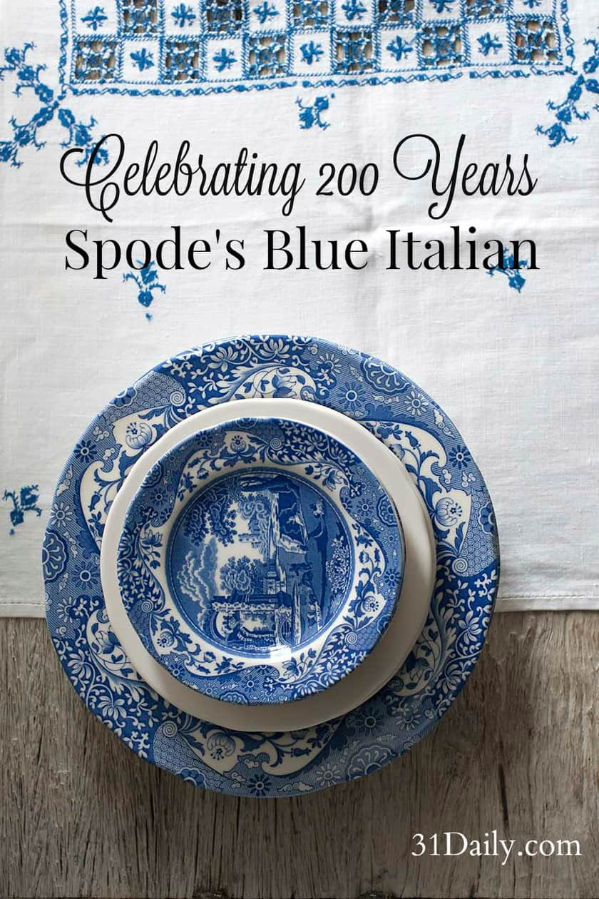 Spode's iconic Blue Italian celebrating its 200th Anniversary. 31Daily.com.