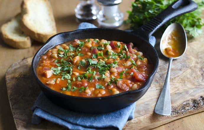 Skillet Quick and Easy Baked Beans