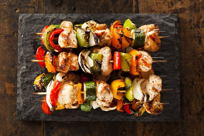 Easy Grilled Teriyaki Chicken Kabobs