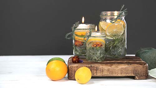 Easy DIY Summer Citronella Candles