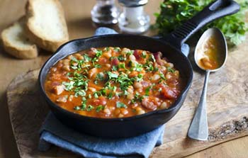 thumbnail photo of baked beans in a skillet