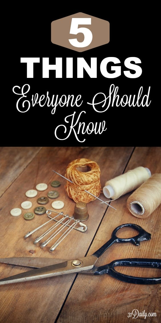 5 Small Things Everyone Should Know How To Do