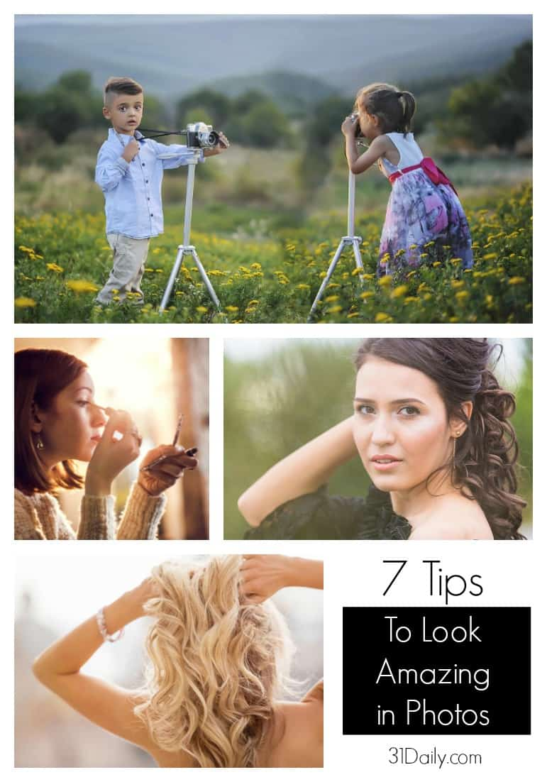 7 Ways to Look Amazing in Photos -- Whether you're preparing for a portrait, group photo or love taking selfies, it pays to know how to look great in photographs. Summer brings graduations, weddings, celebrations, and vacations... read 7 tips for looking your best at 31Daily.com.