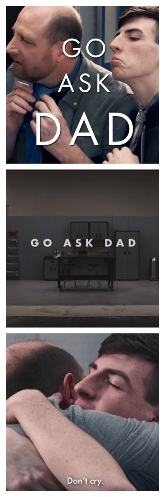 "Tying a tie, throwing a football, asking a girl for a date... mastering the morning shave typically are moments shared between fathers and sons. But in our world where screen-time replaces face-time, teens are increasingly replacing dad with YouTube ""how-tos."" Watch what happens when they ""Ask Dad."" 31Daily.com"