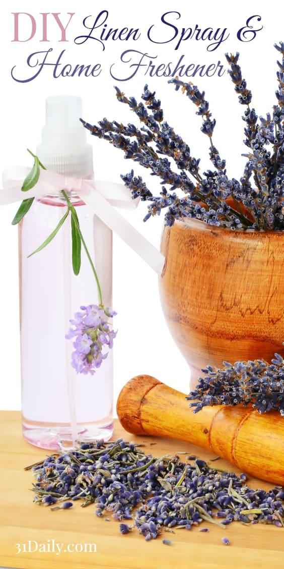 DIY Homemade Linen Spray and Room Freshener with Essential Oil Recipes | 31Daily.com
