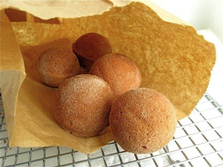 When cravings strike and you're longing for a doughnut -- try this healthier version -- Cinnamon Sugar Baked Doughnut Holes at 31Daily.com.