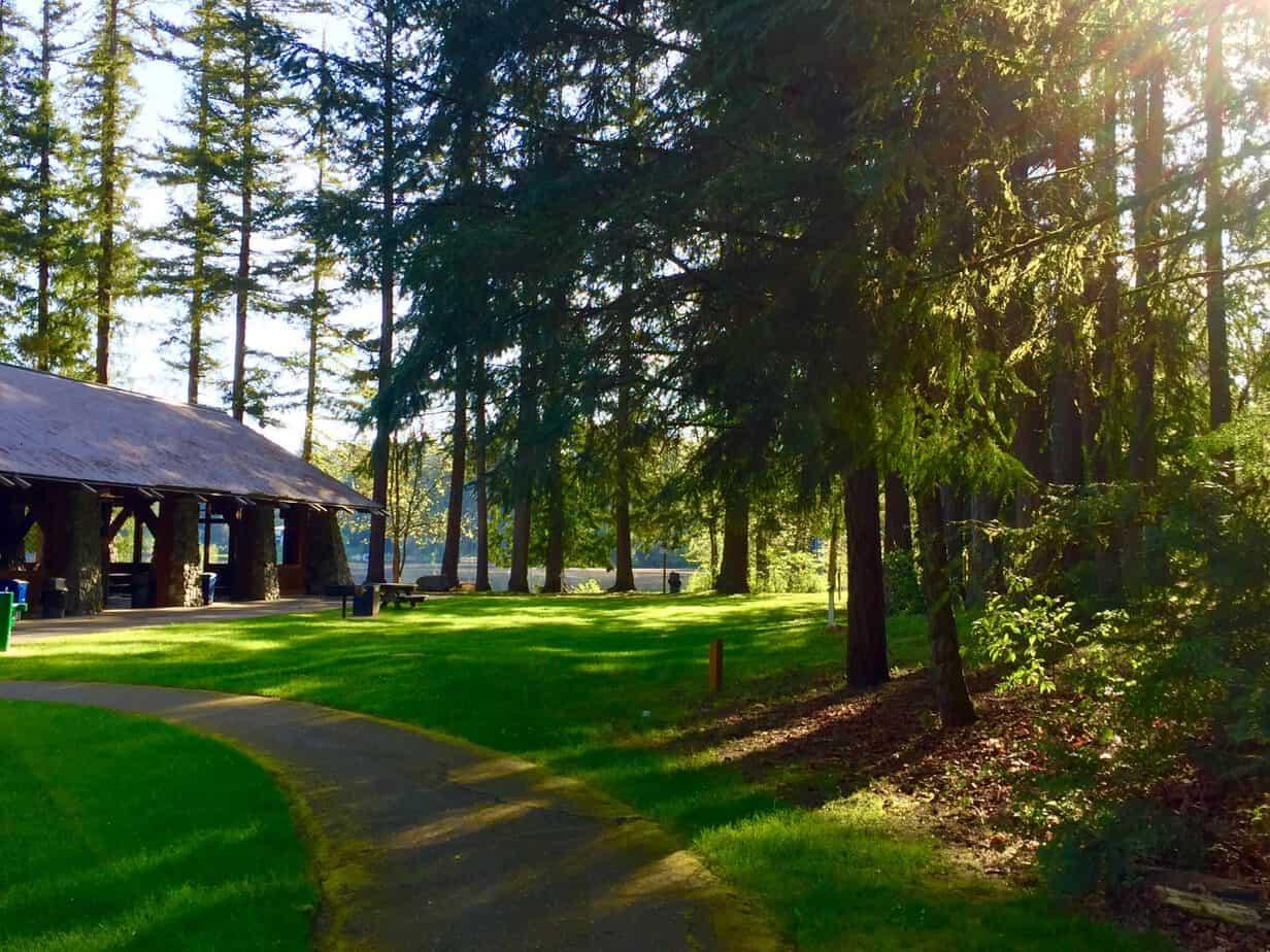 Great Picnic facilities at Washington State Lake