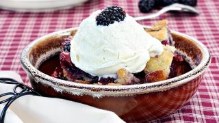 Blackberry Cobbler with Ginger Biscuits
