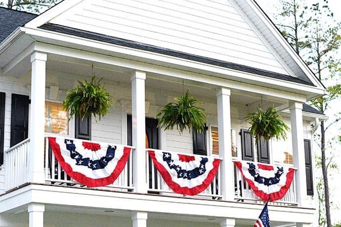 A Summer Patriotic Porch