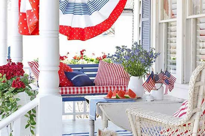 A Summer Patriotic Porch