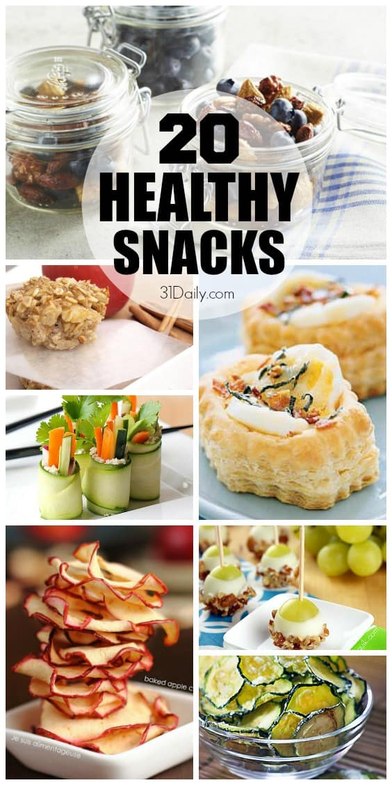 20 Healthy Snacks | 31Daily.com