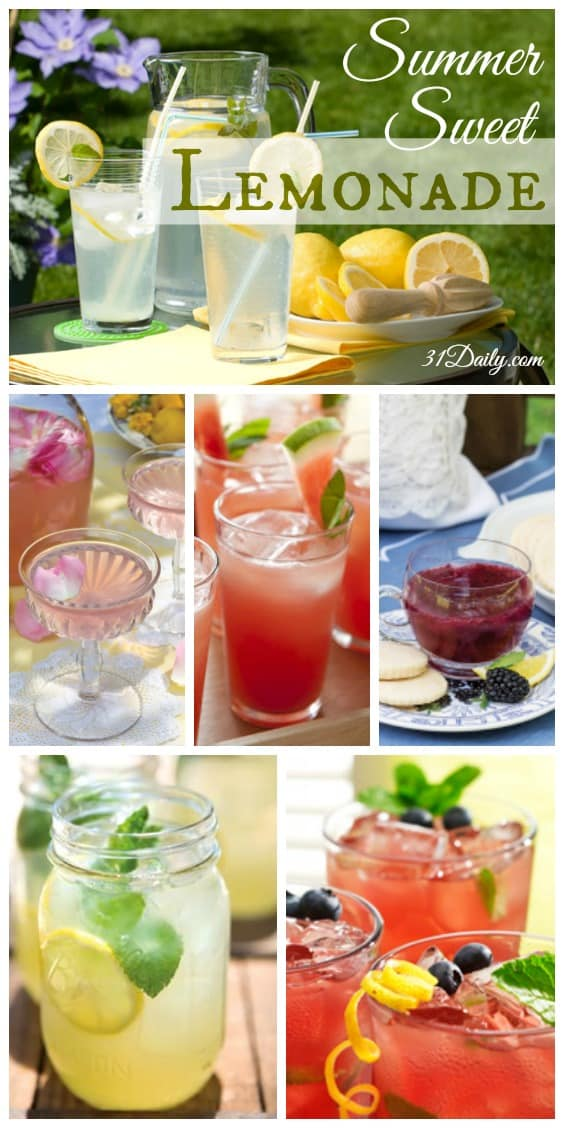 Summer Sweet Lemonade; a refreshing elixir you can make in minutes and varieties you can try all season long.   31Daily.com