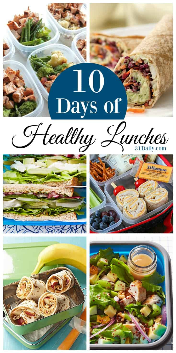 10 Days of Healthy Lunch Ideas for Work and School | 31Daily.com