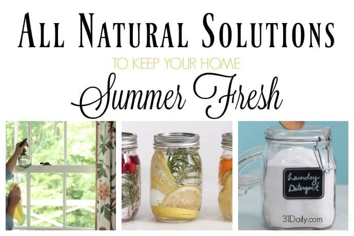 All Natural Cleaning Solutions to Keep Your Home Summer Fresh