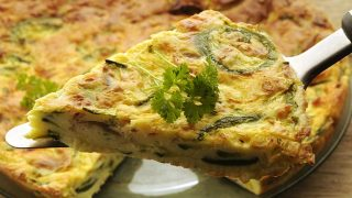 Quick Fix: Zucchini Frittata with Tomato and Bacon