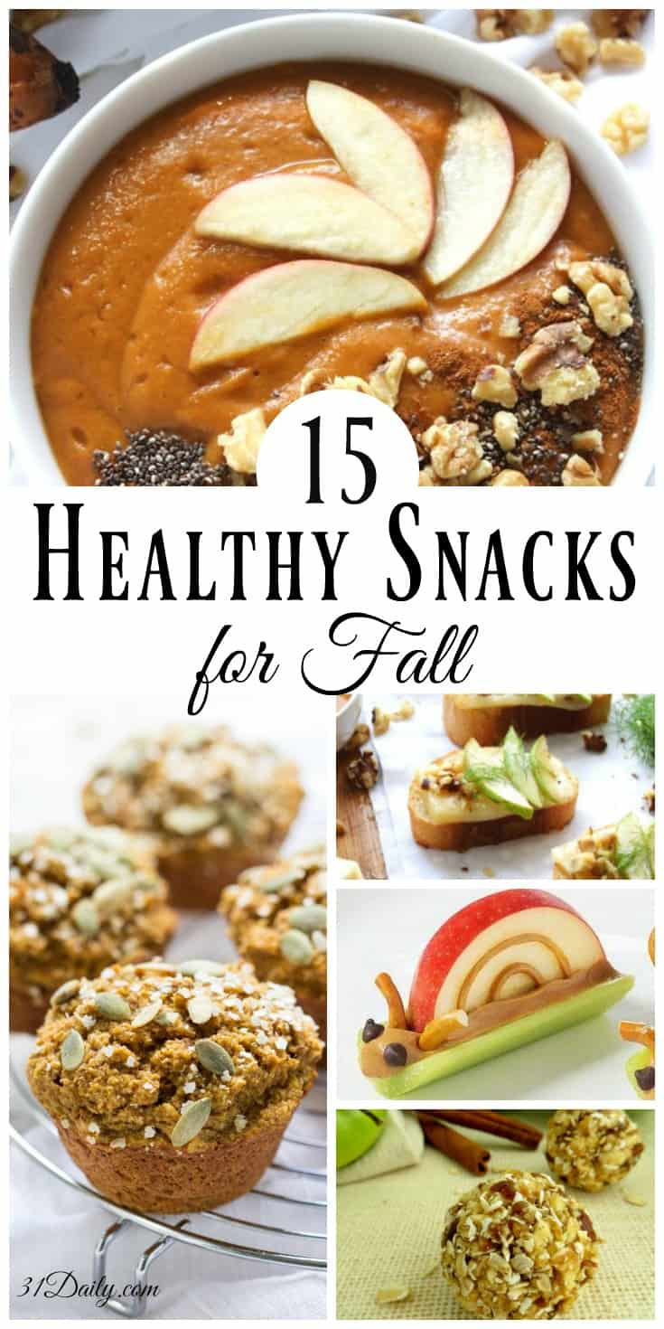 15 Enticing and Healthy Snacks for Fall | 31Daily.com