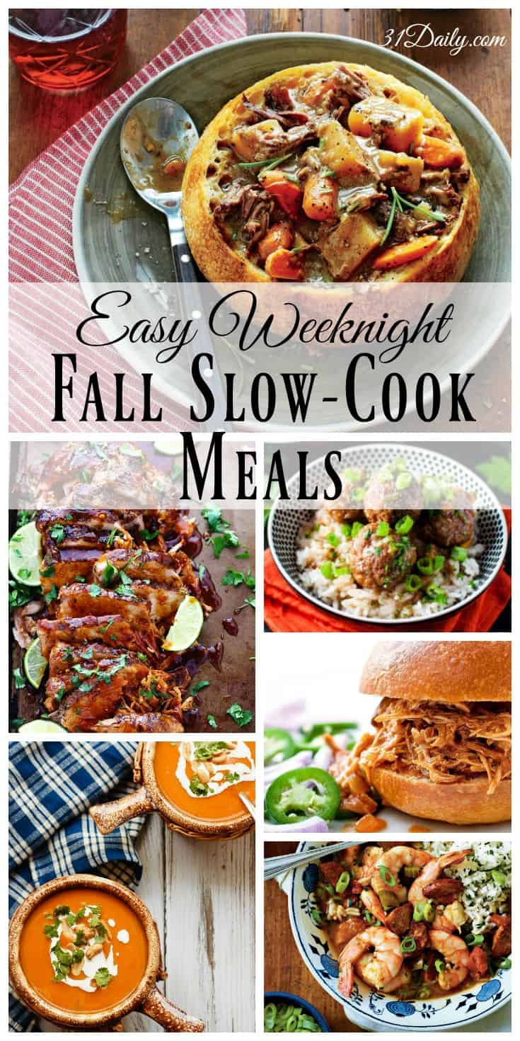 Fall Slow Cook Meals - Perfect for Weeknights | 31Daily.com