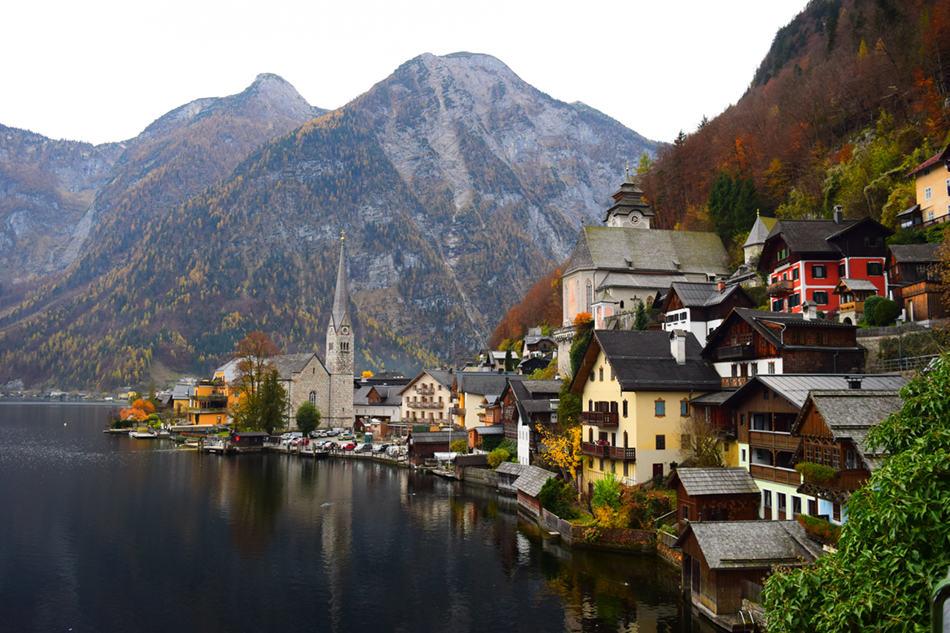 Hallstatt, Austria in the Fall