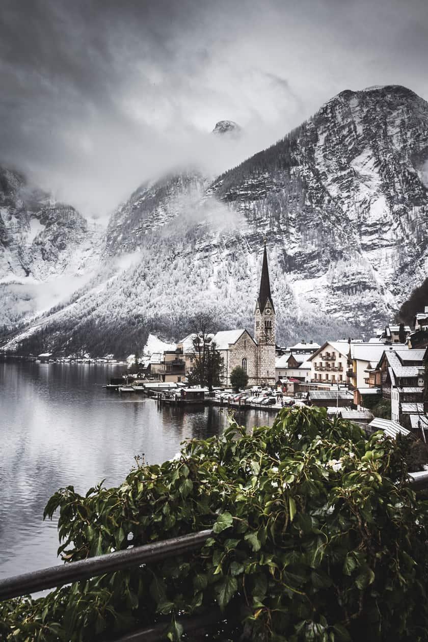 Winter view of Hallstatt, Austria