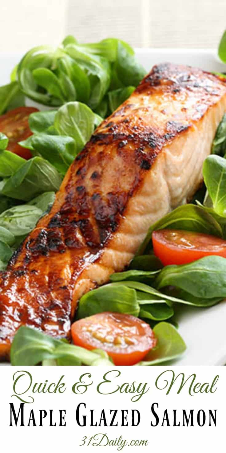 Quick and Easy Meal Maple Glazed Wild Salmon | 31Daily.com