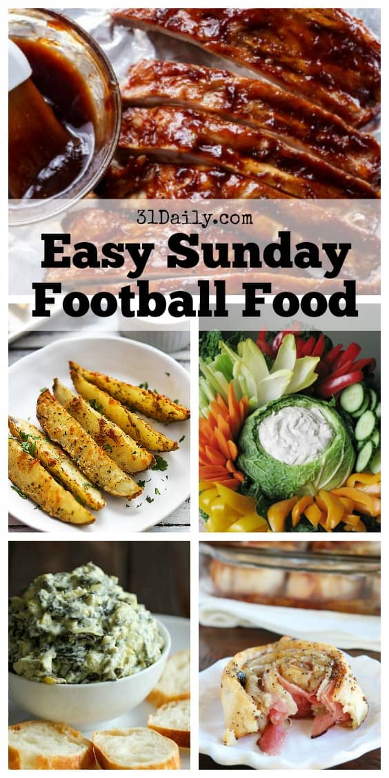 Easy Sunday Football Foods | 31Daily.com